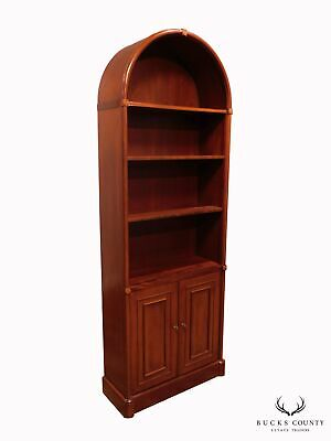 Regency Style Quality Mahogany Arch Top Bookcase