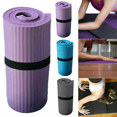 Extra Thick Yoga Mat 16mm Non Slip Exercise Pilates Gym Picnic Camping Straps