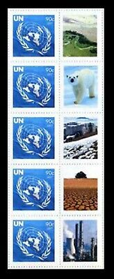United Nations UN S20 Climate Change 2007 Personalized Sheet Strip of 5 A*