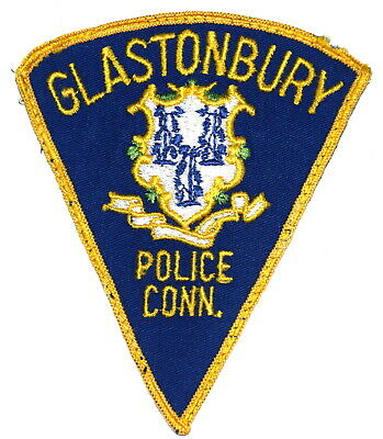 "Connecticut CT Glastonbury Police Force Bullion Patch 3.25/"" X 2.5/"" Made in USA"