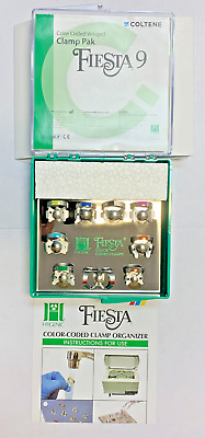 Coltene/Whaledent Hygenic Fiesta 9 Winged Color Coded Clamp Pack Assorted H09966