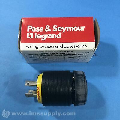 Pass & Seymour L1630-P Electrical Twist-Lock Cable Plug, 30A 480V FNOB