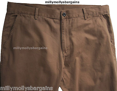 New Mens Marks & Spencer Brown Slim Trousers Waist 40 38 34 Leg 31 29