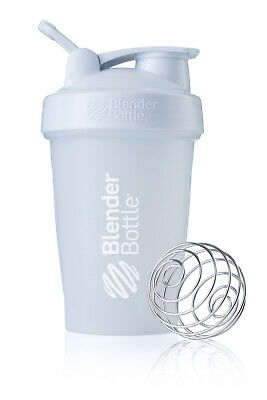 90 Count box of BlenderBottle - Clear/White - 20-Ounce Loop Top