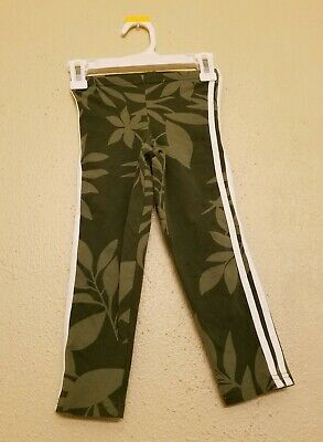 Old Navy Stretch green white Pants activewear girls size small 6-7