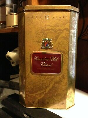 """Rare Canadian Club Classic Blended Canadian Whisky Collector Tin """"Free Shipping"""""""