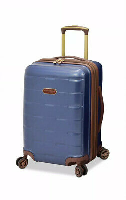"""London Fog Brentwood 24"""" Hardside Expandable Spinner Suitcase Carry On Navy Blue"""