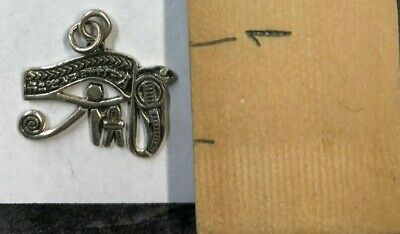 Vintage Silver Jewelry Pendent- Eye Of Horus Egyptian Ancient History 1.7g J108