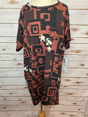BNWT Lularoe Kids Disney Gracie Shirt 12 Mickey Mouse Aztec HTF