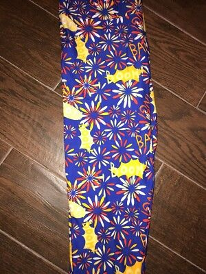 Brand New With Tags LuLaRoe Kids S/M leggings Fireworks Bang Boom