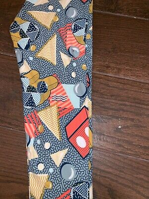 BNWT LuLaRoe Disney Tween Leggings Mickey Mouse Clubhouse Party Gray Geometric