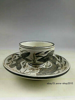 Antique Old Chinese Dynasty Jizhou kiln Porcelain Pottery Cup Tea cup ATTV