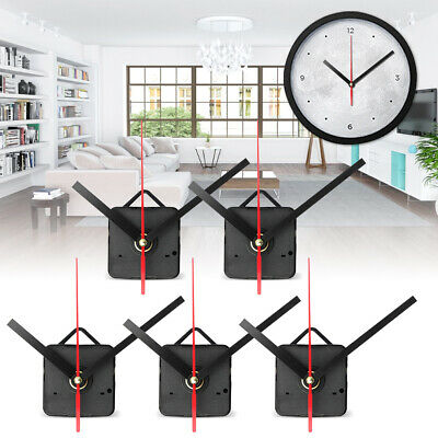 5x Long Hand Wall Quartz Clock Spindle Mechanism Repair Tool Parts Home Office