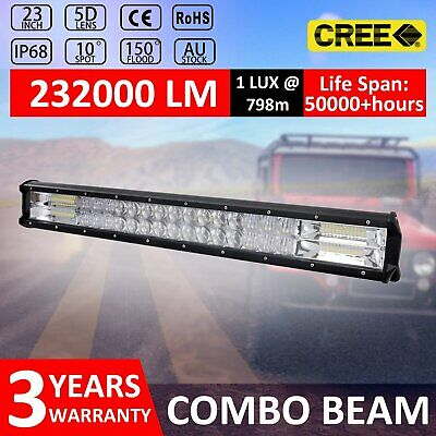 23Inch Cree Led Light Bar Flood Spot Combo Offroad Driving 4WD Lamp 4X4