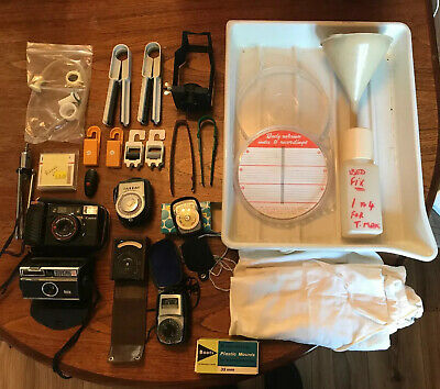 Big Job Lot Vintage Camera Photography Darkroom Developing Equipment Accessories