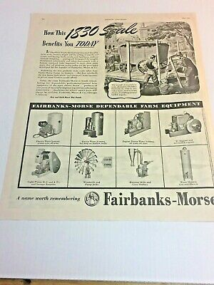 1945 Original Ad for Fairbanks Morse Z Hit & Miss Engine's, Hammer Mills, Pumps