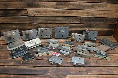 Bulk Vintage Antique Door Rim Lock Bolt Handle Jas Carpenter Brass Vaughan Key