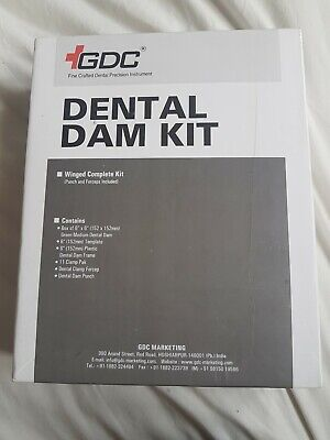 GDC Dental Dam Kit New, includes clamps, punch, forceps, frame but no dental dam