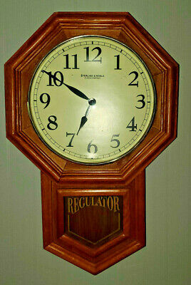 Vintage Sterling And Noble Regulator Wall Clock with Westminster Chime