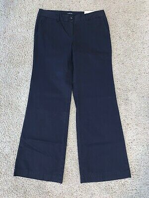 NWT New Women's Lands' End Blue Casual Pants Size 10 Fit 1