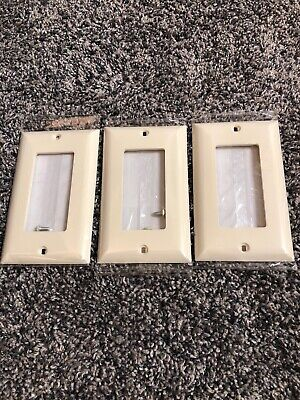 Jasco Light Switch Wall Plate Receptacle Outlet Cover 10x ALMOND 40053