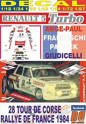 DECAL RENAULT 5 TURBO DANY SNOBECK R.MONTECARLO 1984 DnF 02