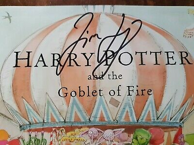 SIGNED by JIM KAY Harry Potter and the Goblet of Fire: Illustrated 1st/1st Rare