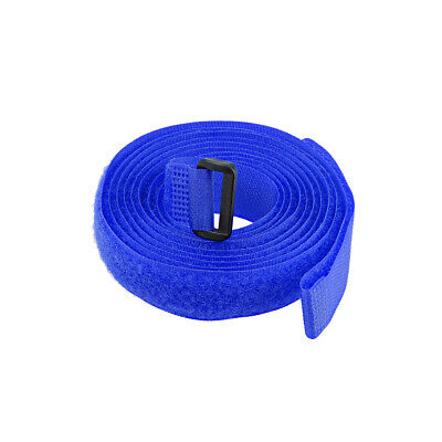 1pcs Hook and Loop Straps, 3/4-inch x 79-inch Securing Straps Cable Tie (Blue)