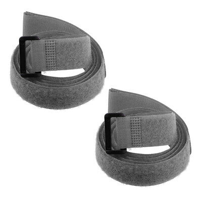 2pcs Hook and Loop Straps, 1-inch x 39-inch Securing Straps Cable Tie (Gray)