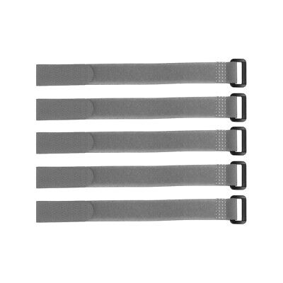 5pcs Hook and Loop Straps, 3/4-inch x 6-inch Securing Straps Cable Tie (Gray)