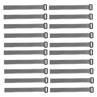20pcs Hook and Loop Straps, 3/4-inch x 6-inch Securing Straps Cable Tie (Gray)