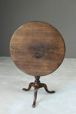 Antique Georgian Tilt Top Supper Centre Occasional Side Window Tripod Table