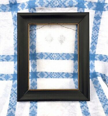 Ebonised Wood Mission Arts Crafts Antique Picture Frame Gilt Slip~For 7x9 Art