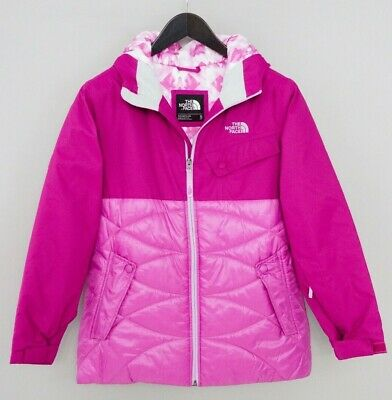 Girls The North Face Ski Jacket Snow Skirted Pink Size XL (18-TG) ZLA78