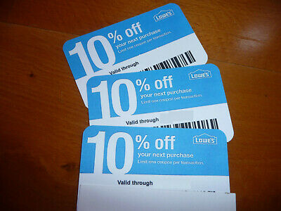 (20𝓧) Lowes 10% ᴏff Competitor Oɴʟʏ Coupon Cards| Home Depot | EXP OCTOBER 2020