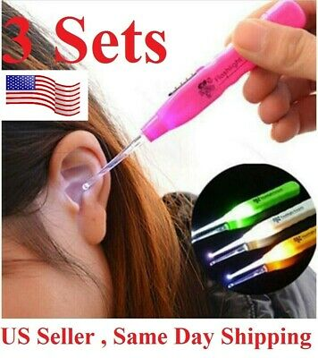 3pcs Cleaning Set Health Care Tool Ear Pick Ear Wax Remover Cleaner earpick Kit