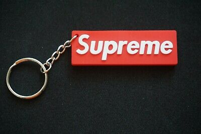 1X Supreme Box Logo Rubber 3D Supreme Red Keychain