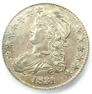 1831 Capped Bust Half Dollar 50C Coin - Certified ICG MS61 (BU) - $1,120 Value!