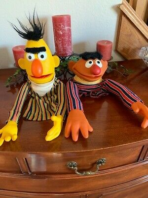 Vintage Large 1970 S Bert And Ernie Muppets Pair Sesame
