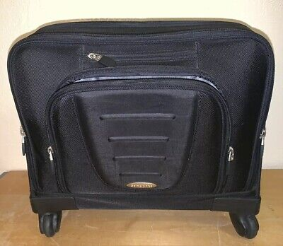 """Samsonite Rolling Laptop Carry On Briefcase Mobile Office Organizer Bag 17"""" wide"""