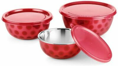 Rident Kitchen Stainless Steel Air Tight Microwave Safe Euro Bowl Set of 3