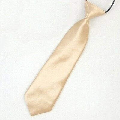 Elastic Satin Neck Tie for Wedding Prom Boys Children School Kids Ties IN9