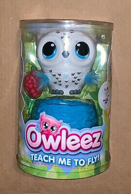 Owleez Flying Baby Owl Interactive Toy with (White)