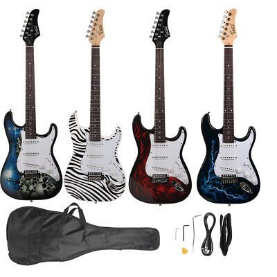 New Glarry 4 Color Basswood 22 Frets Electric Guitar +Gigbag +Strap +Pick