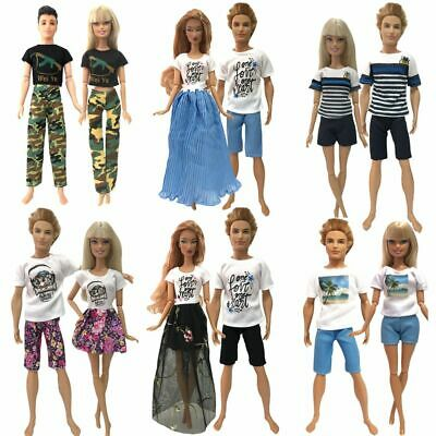 2 Pcs/ Lot Barbie Doll Ken Clothes Fashion Handmade Daily Sports Pants Outfit