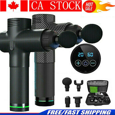 LCD Deep Percussion Massage Gun Speed Vibration Body Muscle Therapy Massager CA