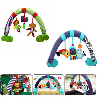 Baby Newborn Stroller Crib Pram Travel Spiral Activity Toy Rattle Squeak Teether