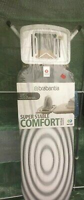 NEW Brabantia Comfort Super Stable TITAN Oval Metal Ironing Board B S 124 x 38cm