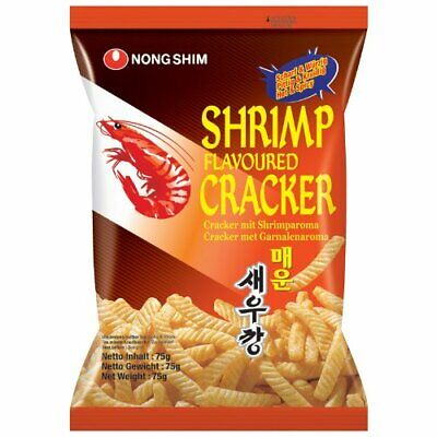 Nong Shim Shrimp Flavoured Chips Hot & Spicy 75g (Pack of 5 packs)