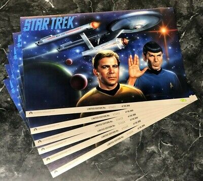 Lot Of 20 Star Trek Limited Edition Poster 1992 Classic Spock Kirk Numbered Mint